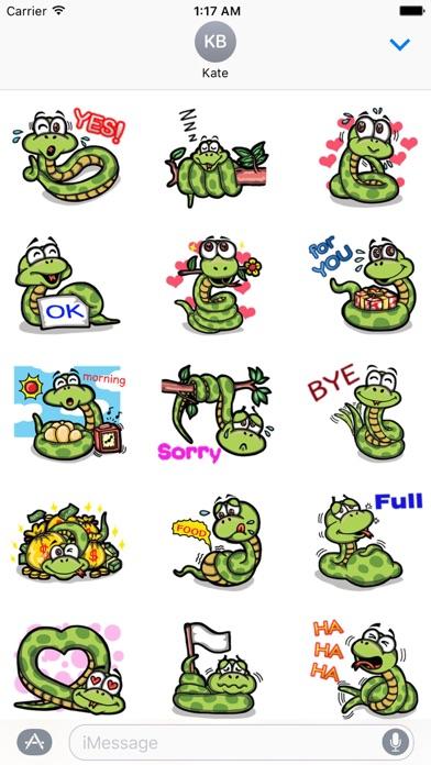 Cute Small Snake Emoji Sticker screenshot 1