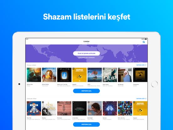 Shazam ipad ekran görüntüleri