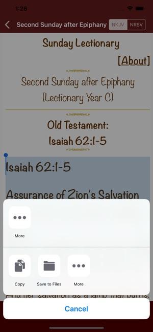 Sunday Lectionary