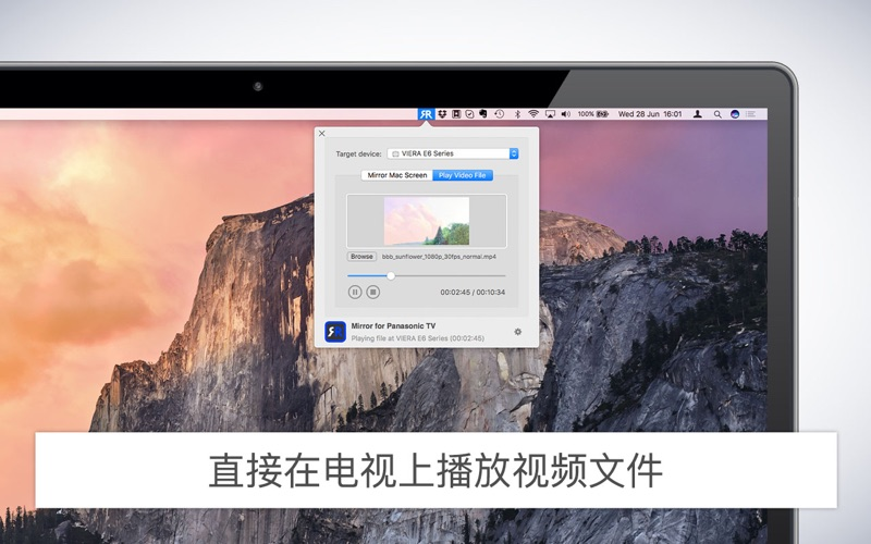 Mirror for Panasonic TV - See your screen on TV for Mac
