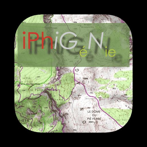 iPhiGéNie X, French IGN maps