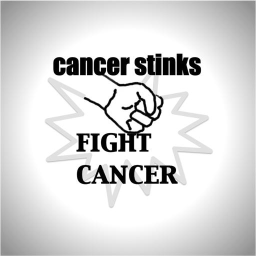cancer stinks stickers