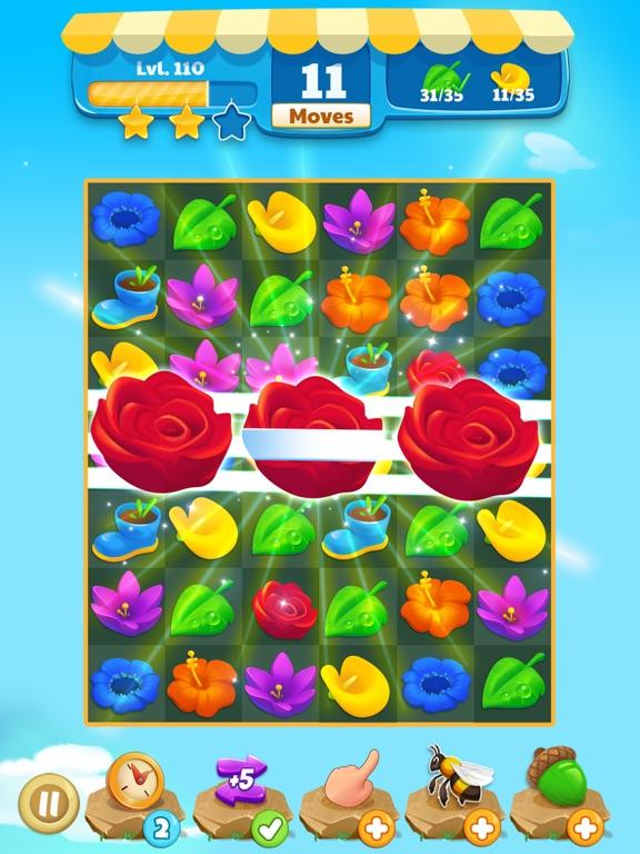 Flower Legends Match 3 screenshot 8