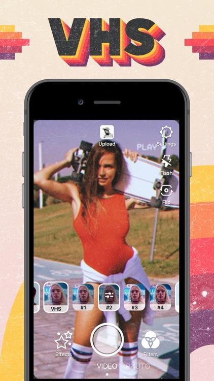 VHS Video Editor, Glitch Cam screenshot-0