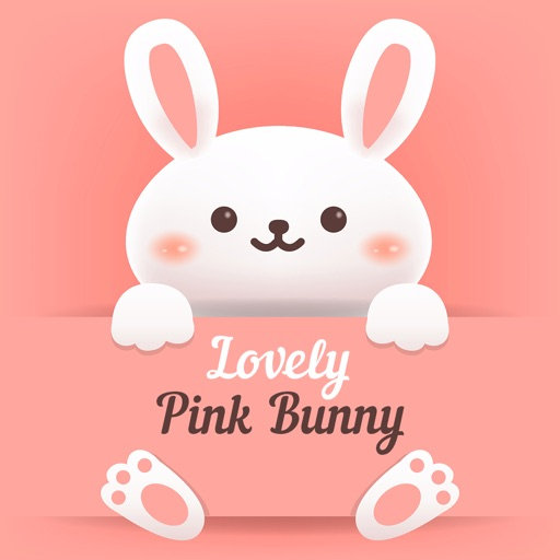 The Lovely Pink Bunny Stickers