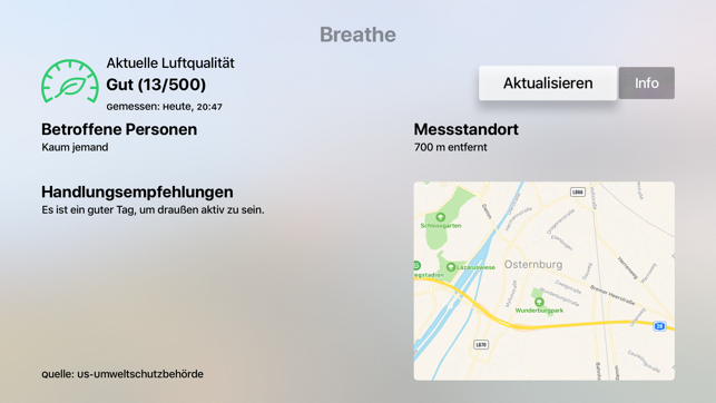 ‎Breathe - Luftqualitätsmonitor Screenshot