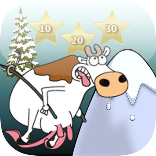 Die Verrückte Ski Laufende Kuh