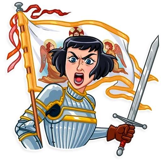 Joan Of Arc Heroine Sticker