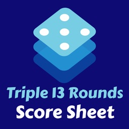 Triple 13 Rounds Score Sheet