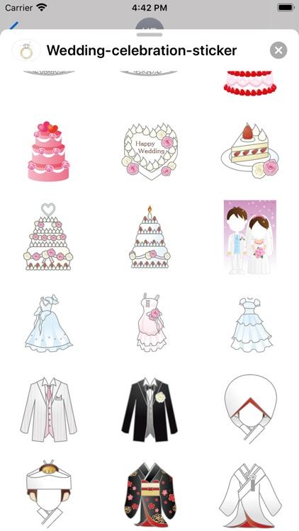 Wedding celebration sticker