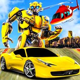 Robot Games Helicopter Car War