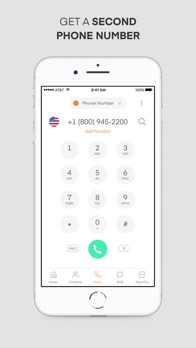 Phoner Text+Call Phone Number Screenshot
