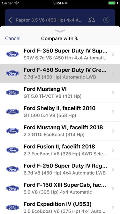 Ford Specs ◆ screenshot-5