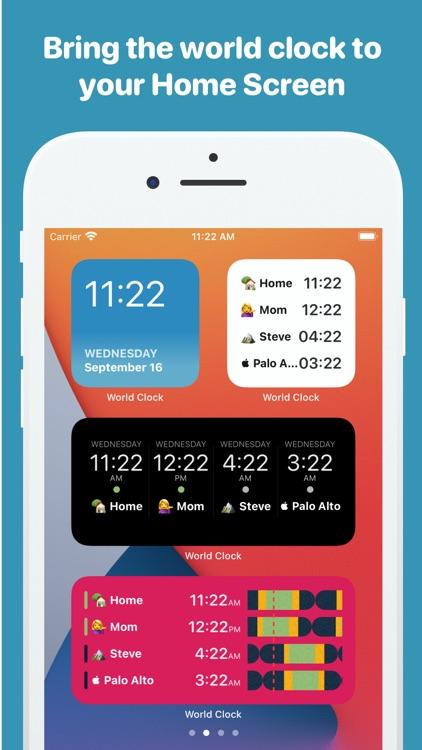 World Clock Time Widget screenshot-0