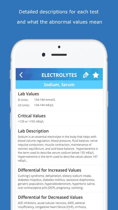 Lab Values Medical ReferenceScreenshot of 3