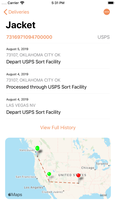 Parcel - Delivery Tracking Screenshot