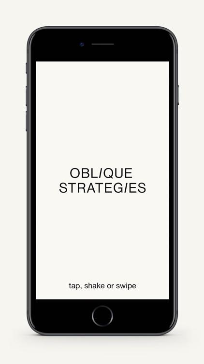 Oblique Strategies SE screenshot-0
