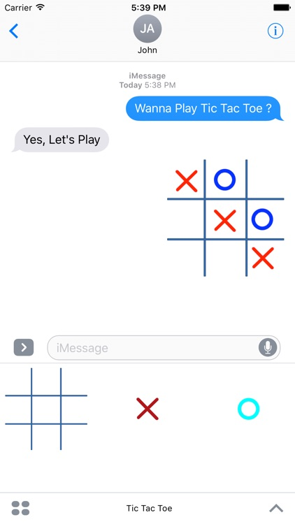 Tic Tac Toe (OX) For Messages screenshot-3