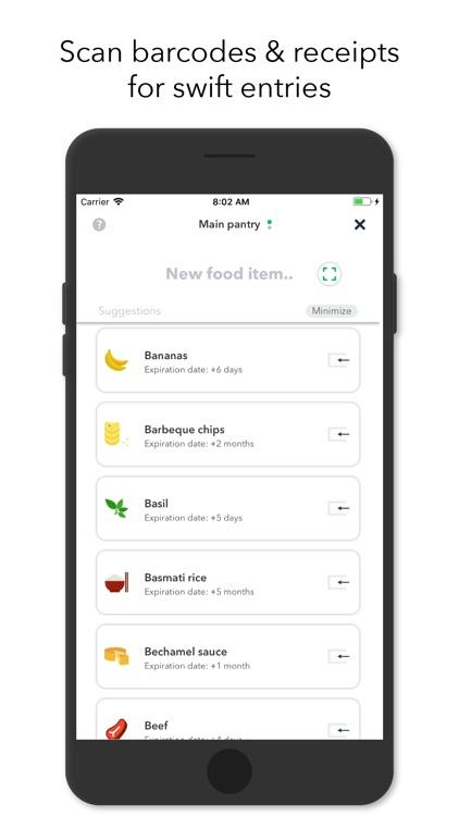 NoWaste - Food Inventory List screenshot-3