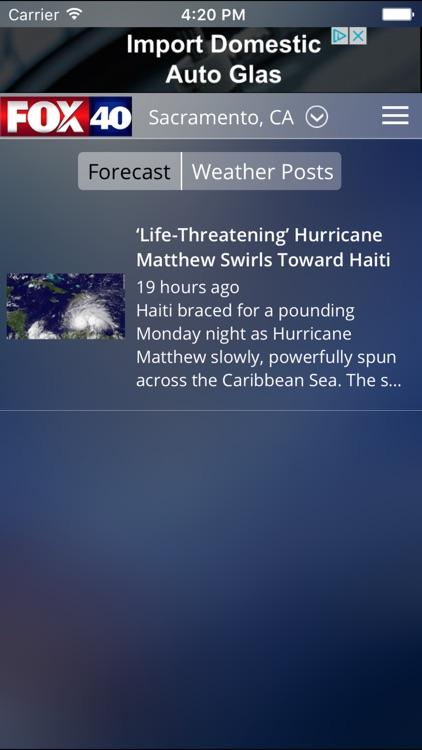 FOX 40 Sacramento Weather screenshot-3