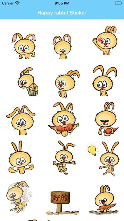 Happy rabbit Sticker