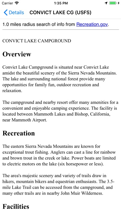 USFS & BLM Campgrounds
