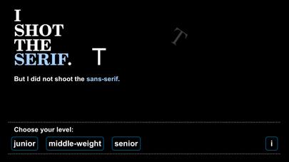 shoot the serif