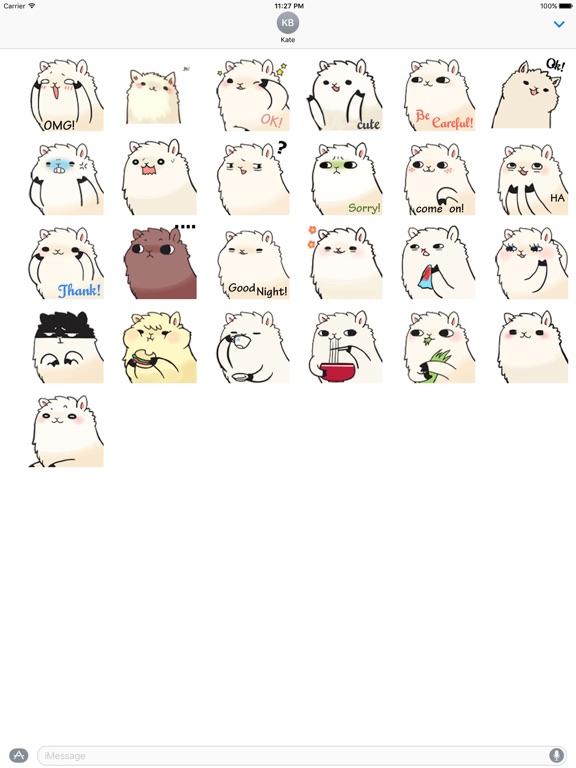 Animated Lovely Alpaca Sticker screenshot 3