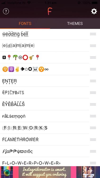 Cool Fonts & Keyboard Themes screenshot-9