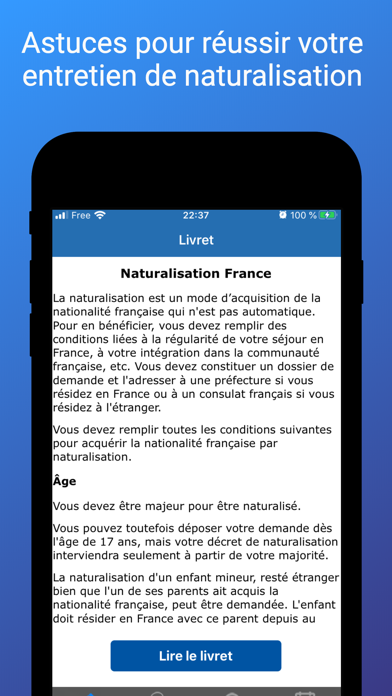 Naturalisation France Screenshot