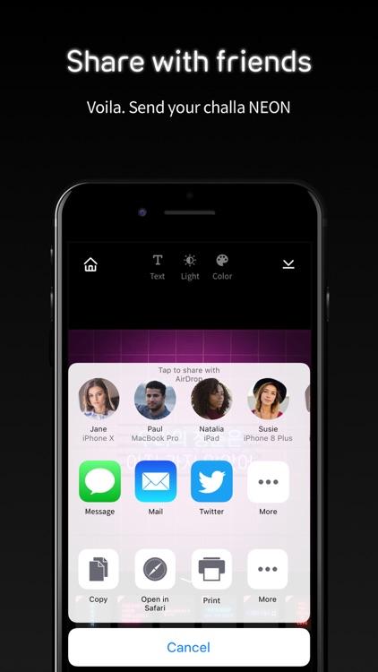 challa NEON: Create Your NEON screenshot-6