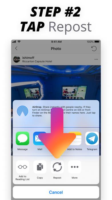 Repost for Instagram: Quick IG screenshot three