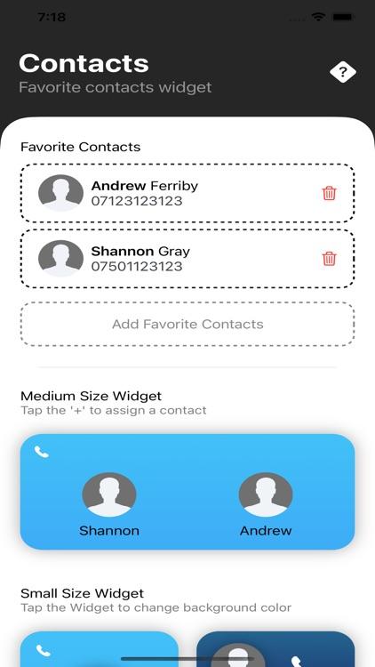 Contact Widget Pro screenshot-4
