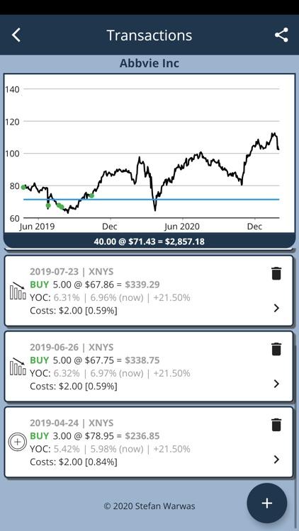 22 Dividends screenshot-5