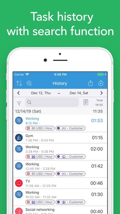 ATracker PRO Time Tracker screenshot-5