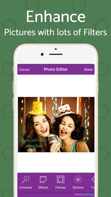 Text Invite Maker: PurpleSlate screenshot-9