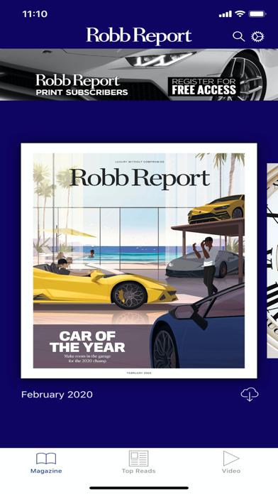 Robb Report Magazine Screenshot