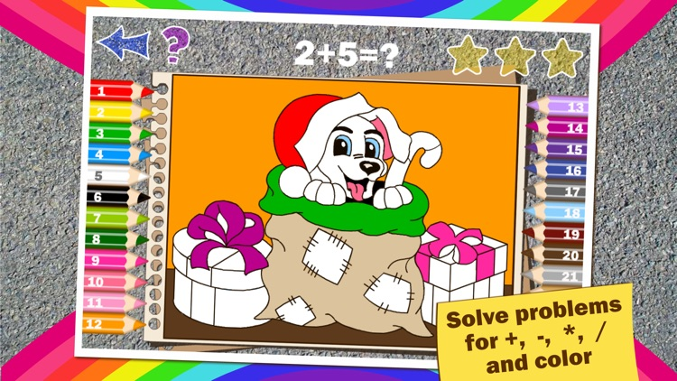 Math Coloring for kids Winter