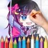 Gacha life coloring & quiz