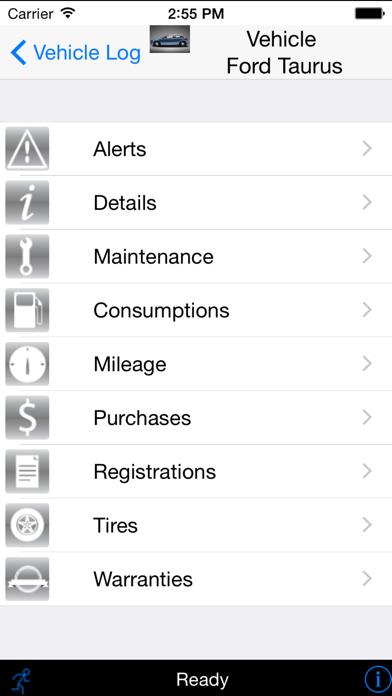 Vehicle Log screenshot three