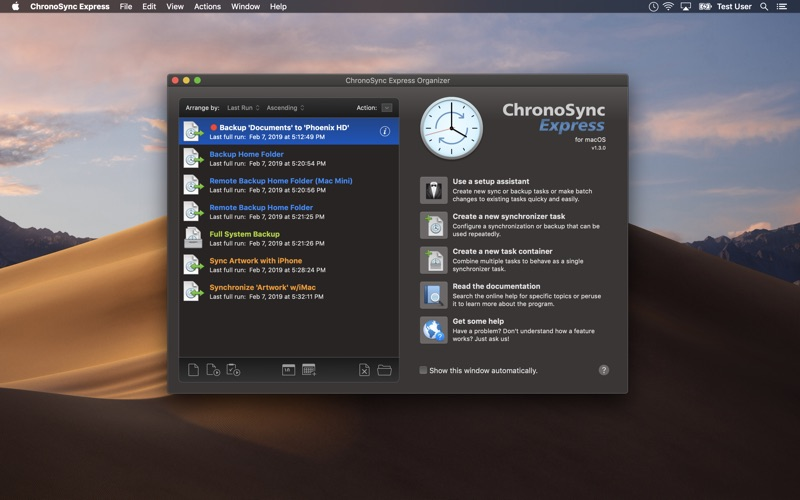 ChronoSync Express скриншот программы 1