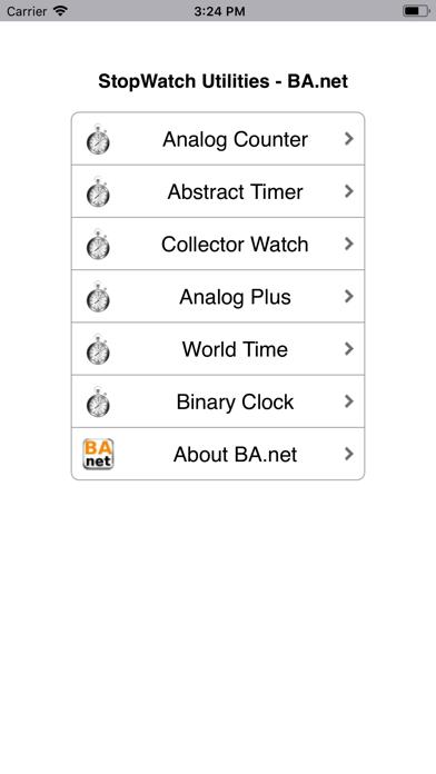 StopWatch Clock - BA.net screenshot one