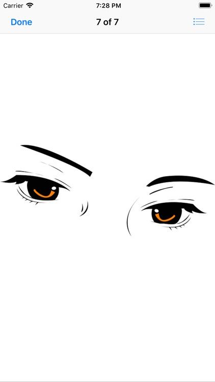 Shapely Eyebrow Stickers screenshot-7