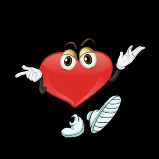 Heart Felling Sticker