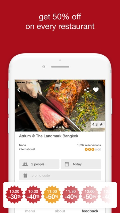 Screenshot for eatigo in Australia App Store