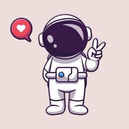 Cute Astronaut Stickers