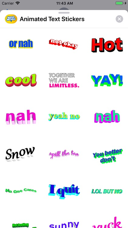 Animated Text Stickers screenshot-3