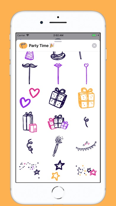 Screenshot for Party Time Stickers in Portugal App Store