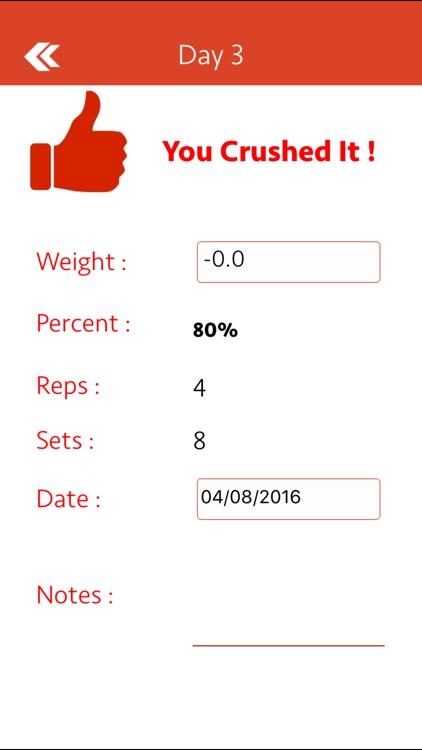 Smolov Squat Calculator screenshot-3