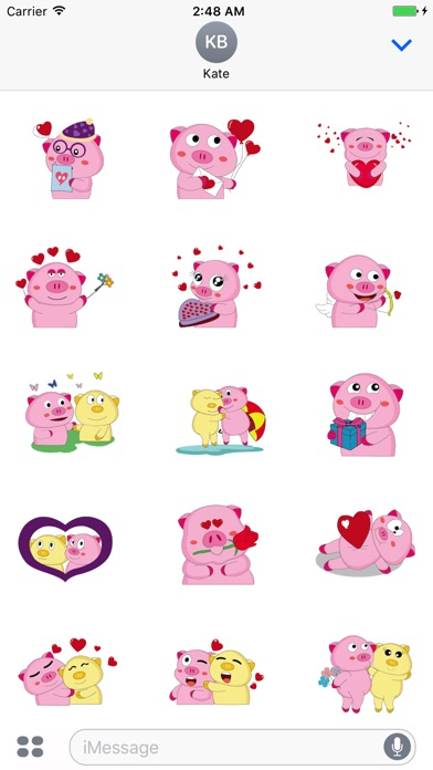 Screenshot for Cute Piggy Sticker Moving Pack in United States App Store